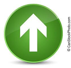 Upload arrow icon elegant soft green round button