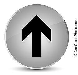 Upload arrow icon elegant white round button