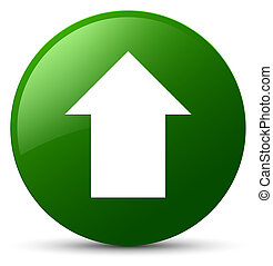 Upload arrow icon green round button