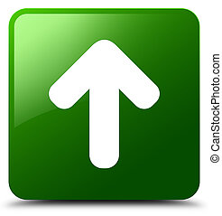 Upload arrow icon green square button