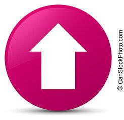 Upload arrow icon pink round button