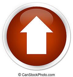 Upload arrow icon premium brown round button