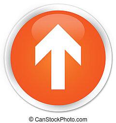 Upload arrow icon premium orange round button