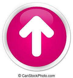 Upload arrow icon premium pink round button