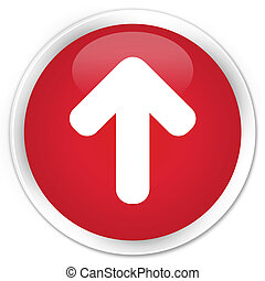 Upload arrow icon premium red round button