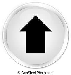 Upload arrow icon premium white round button