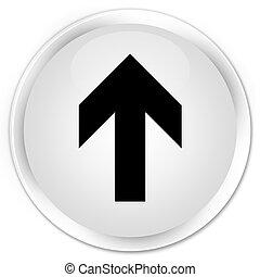 Upload arrow icon premium white round button