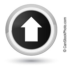 Upload arrow icon prime black round button