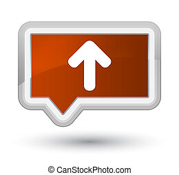 Upload arrow icon prime brown banner button