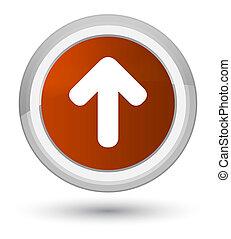 Upload arrow icon prime brown round button