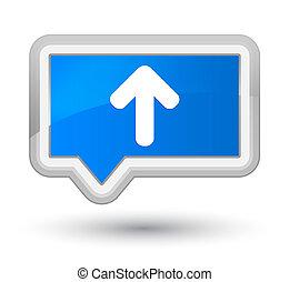 Upload arrow icon prime cyan blue banner button