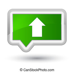 Upload arrow icon prime green banner button