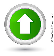 Upload arrow icon prime green round button