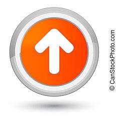 Upload arrow icon prime orange round button