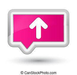 Upload arrow icon prime pink banner button