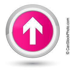 Upload arrow icon prime pink round button