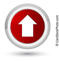 Upload arrow icon prime red round button
