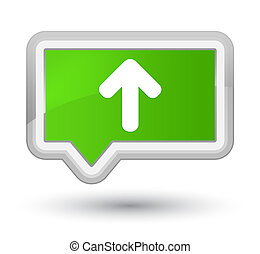 Upload arrow icon prime soft green banner button
