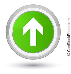 Upload arrow icon prime soft green round button