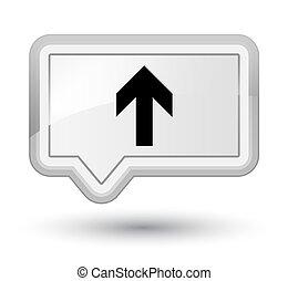 Upload arrow icon prime white banner button