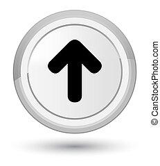 Upload arrow icon prime white round button