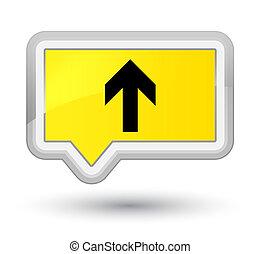Upload arrow icon prime yellow banner button