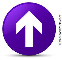 Upload arrow icon purple round button