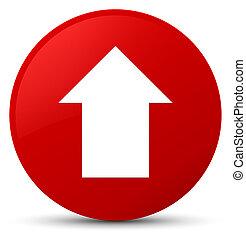 Upload arrow icon red round button