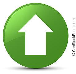 Upload arrow icon soft green round button