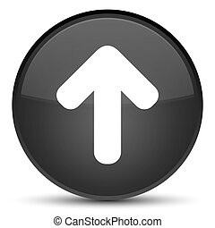 Upload arrow icon special black round button