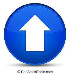 Upload arrow icon special blue round button