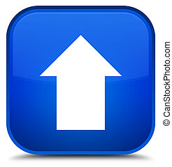 Upload arrow icon special blue square button
