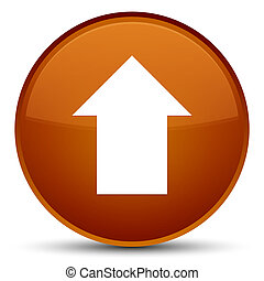 Upload arrow icon special brown round button