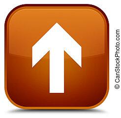 Upload arrow icon special brown square button