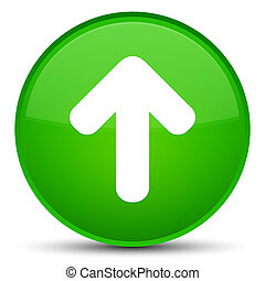 Upload arrow icon special green round button