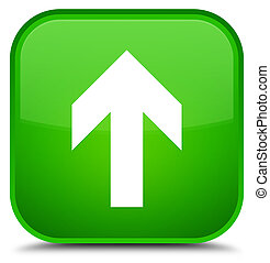 Upload arrow icon special green square button
