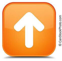 Upload arrow icon special orange square button