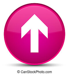 Upload arrow icon special pink round button