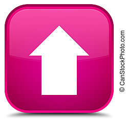 Upload arrow icon special pink square button