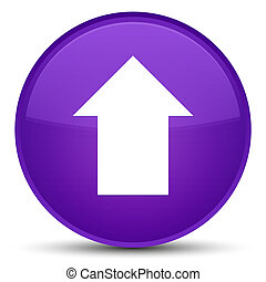 Upload arrow icon special purple round button