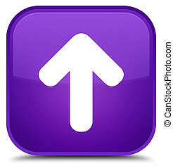 Upload arrow icon special purple square button