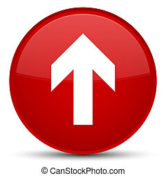 Upload arrow icon special red round button