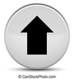 Upload arrow icon special white round button