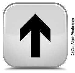 Upload arrow icon special white square button