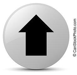Upload arrow icon white round button