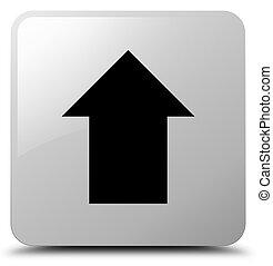 Upload arrow icon white square button