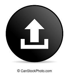 upload black circle web glossy icon