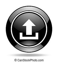 upload black glossy icon