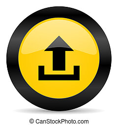 upload black yellow web icon - new modern oryginal web icon