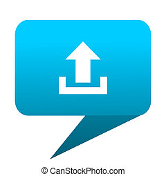 upload blue bubble icon